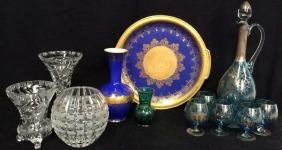 Group Lot Vintage Porcelain, Venetian Glass, And