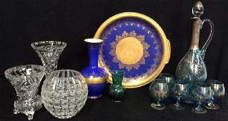 Group Lot Vintage Porcelain Venetian Glass And