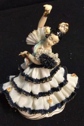 Vintage Dresden Porcelain Flamenco Collectible