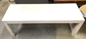 White Parsons Coffee Console Table