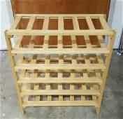 Six Shelves Pine Wood Wine Rack