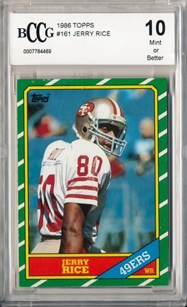1986 Topps Jerry Rice Rookie Graded BCCG 10