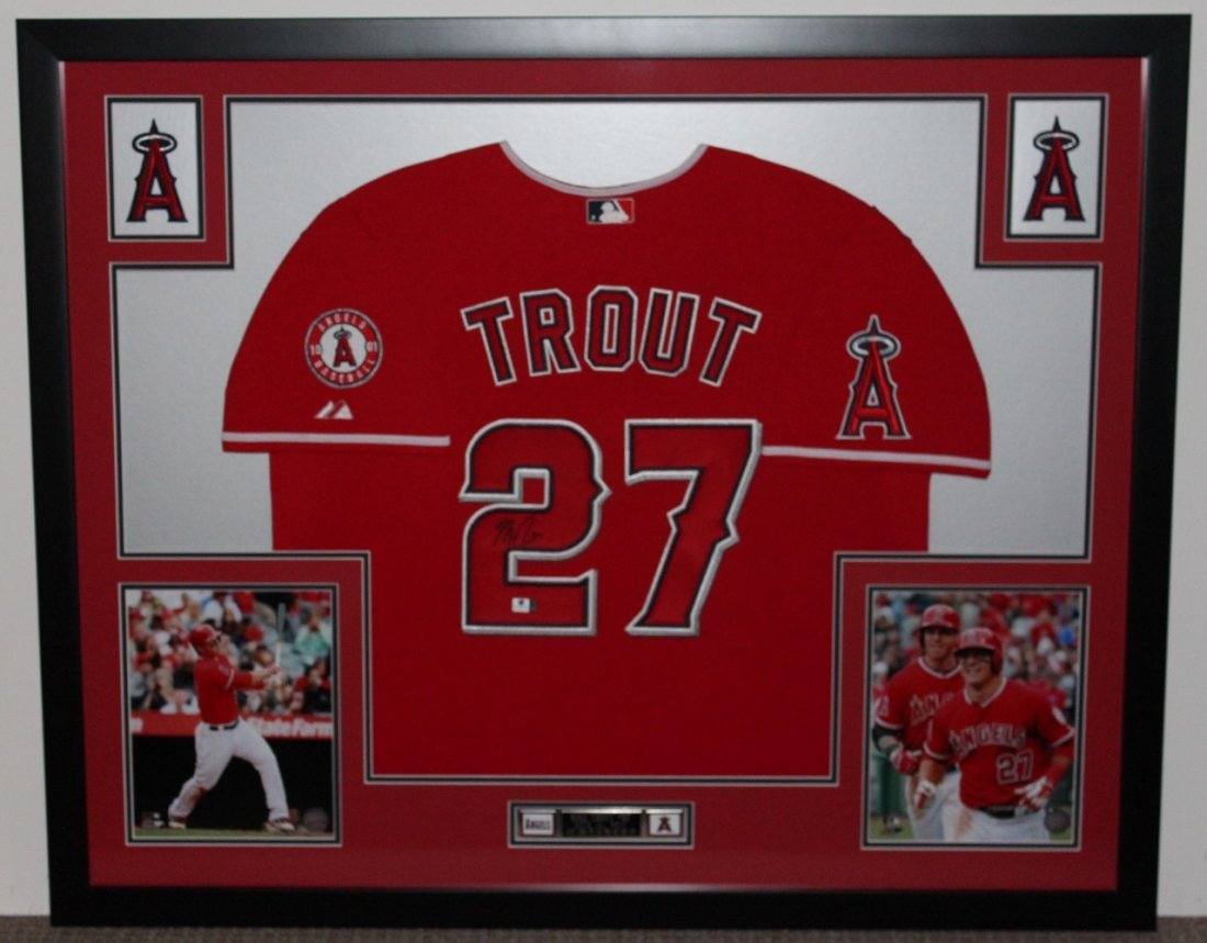 Mike trout Autographed & Framed Jersey