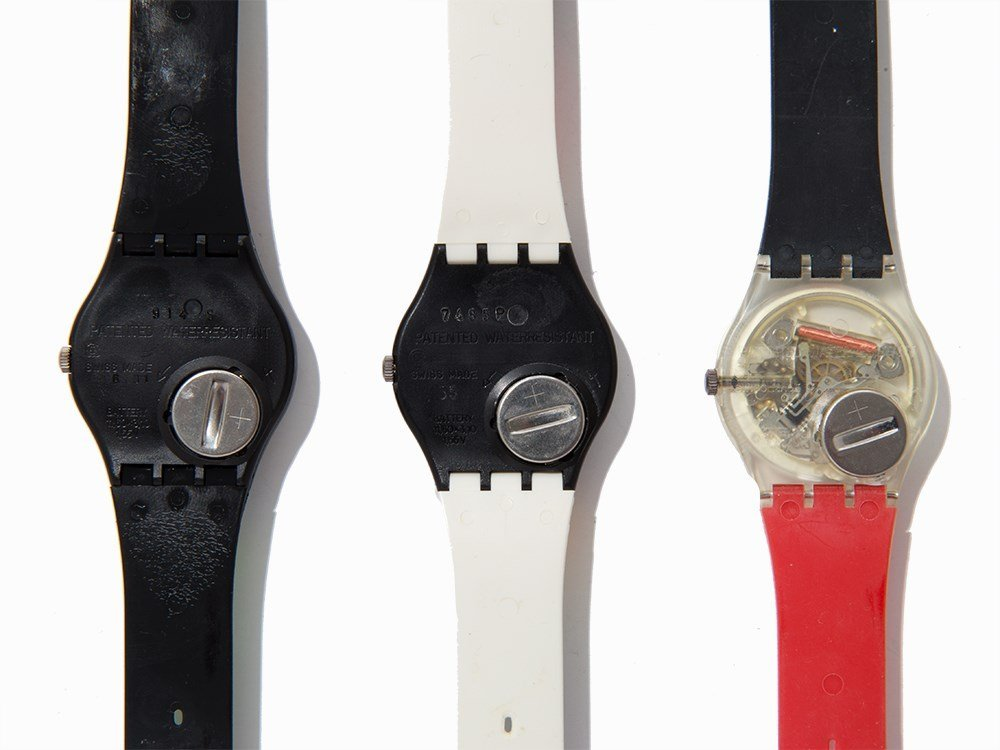 Collection of Six Swatch Wristwatches, c. 1985 - 6