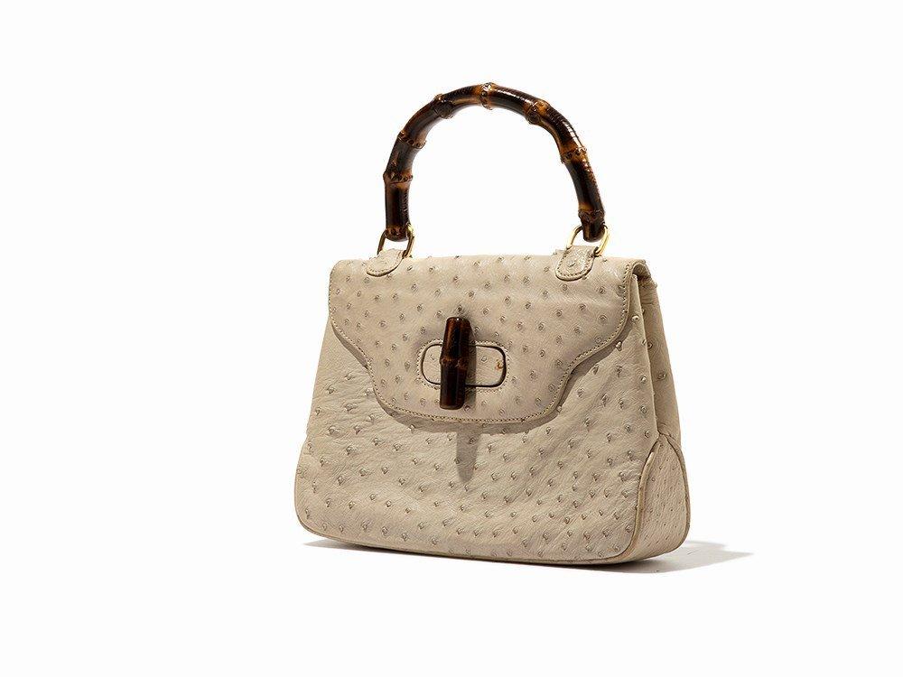 Gucci, Vintage Cream Ostrich Handbag, Italy, mid 20th