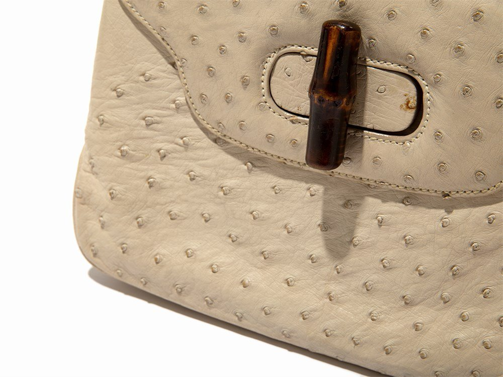 Gucci, Vintage Cream Ostrich Handbag, Italy, mid 20th - 2