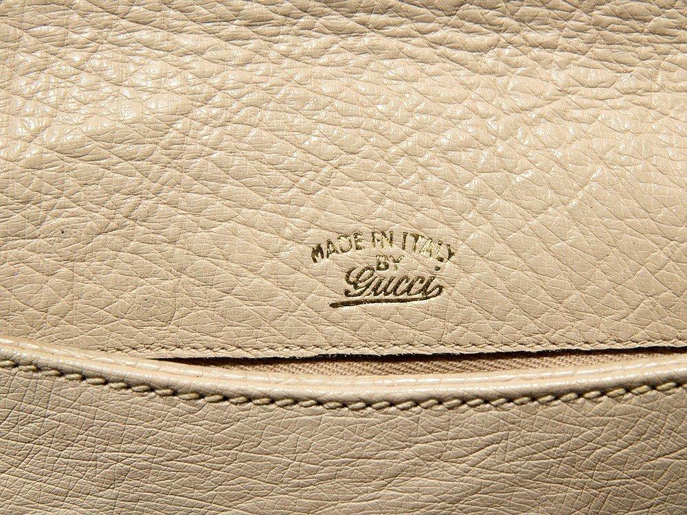 Gucci, Vintage Cream Ostrich Handbag, Italy, mid 20th - 4