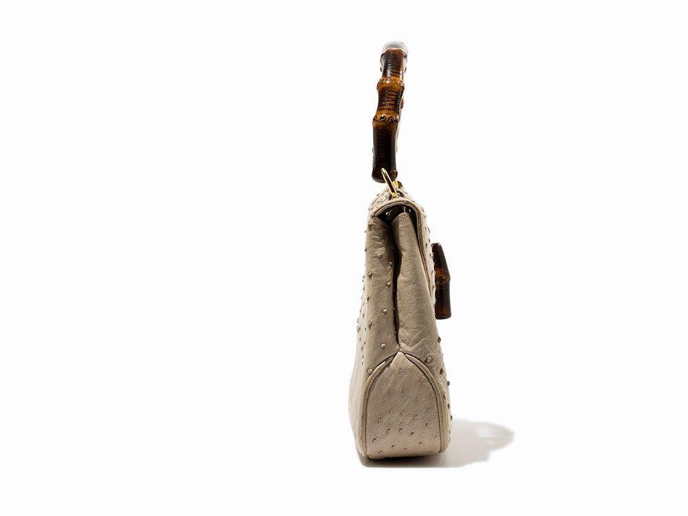 Gucci, Vintage Cream Ostrich Handbag, Italy, mid 20th - 5