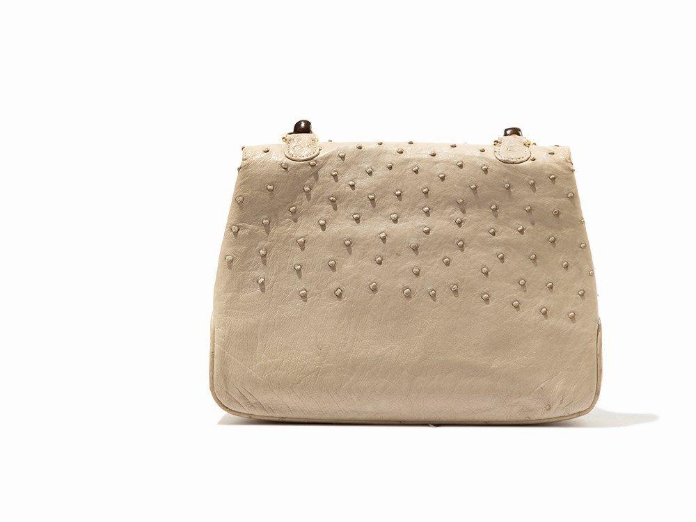 Gucci, Vintage Cream Ostrich Handbag, Italy, mid 20th - 6