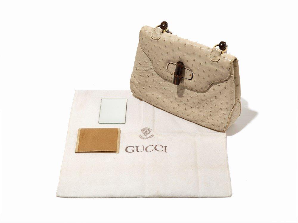 Gucci, Vintage Cream Ostrich Handbag, Italy, mid 20th - 7