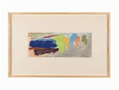Friedel Dzubas, Color Lithograph, Untitled, USA, 20th