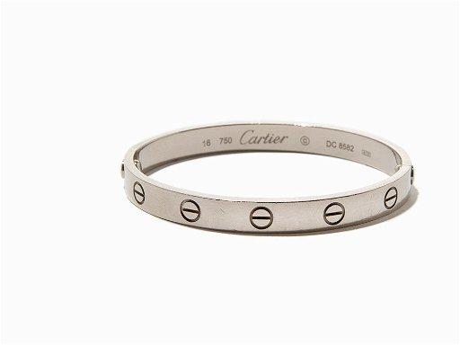 Cartier Love Bracelet 18k White Gold Usa C 1995