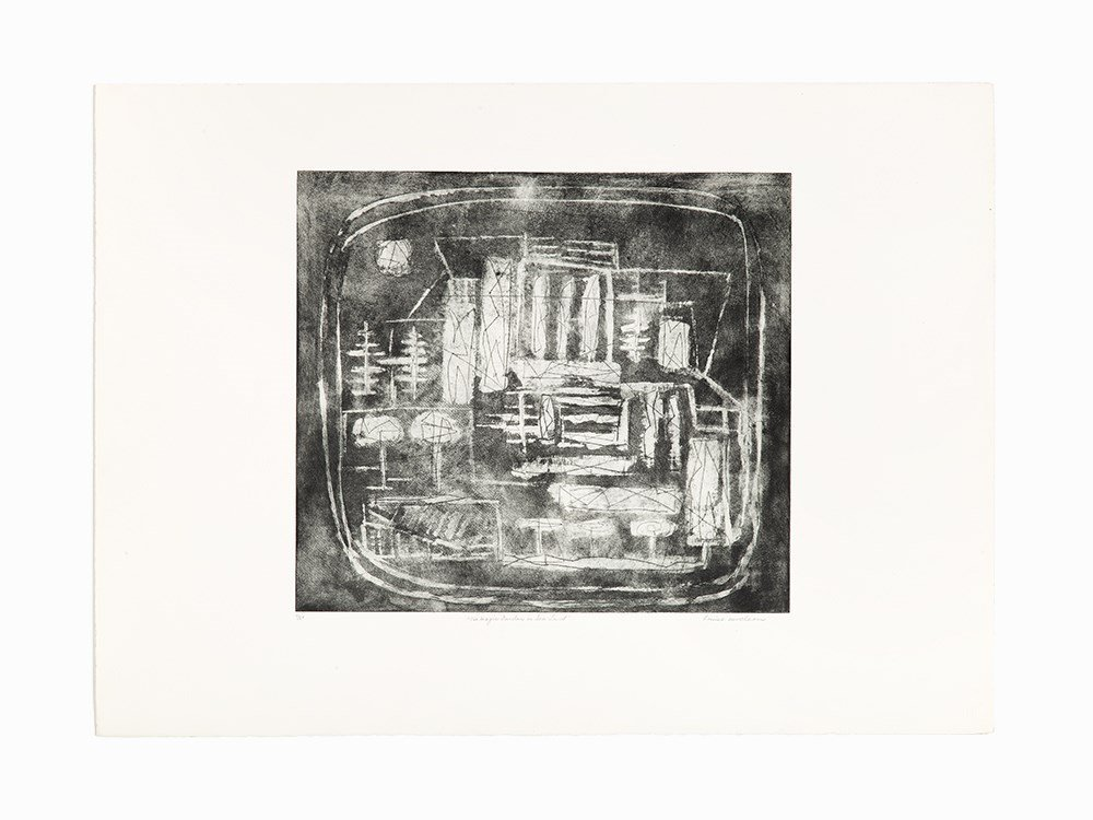 Louise Nevelson, The Magic Garden in Sea-Land, Etching,