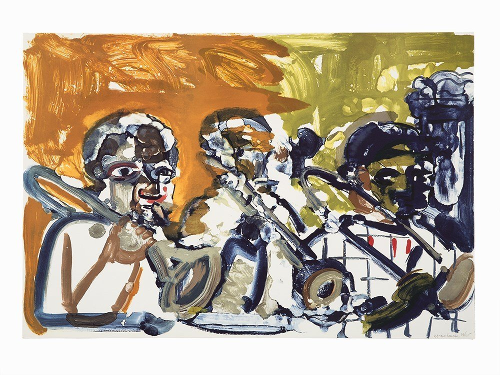 Romare Bearden, 'Brass Section', Lithograph, 1979