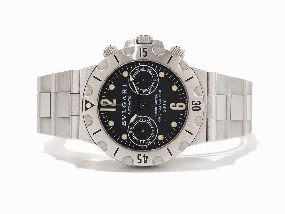 Bvlgari Diagono Scuba Chronograph, Ref. SCB 38 S,
