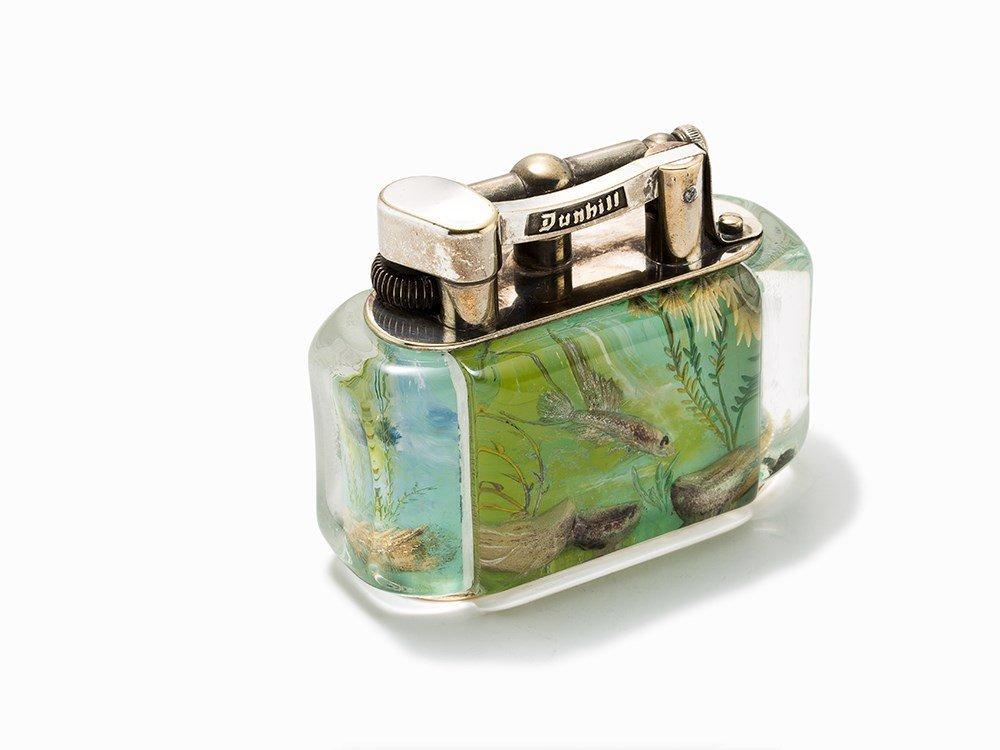 Dunhill, Rare Aquarium Lighter, England, c. 1950