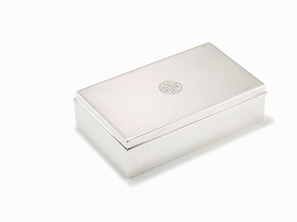 Tiffany & Co., Sterling Silver Cigarette Box, USA, c.