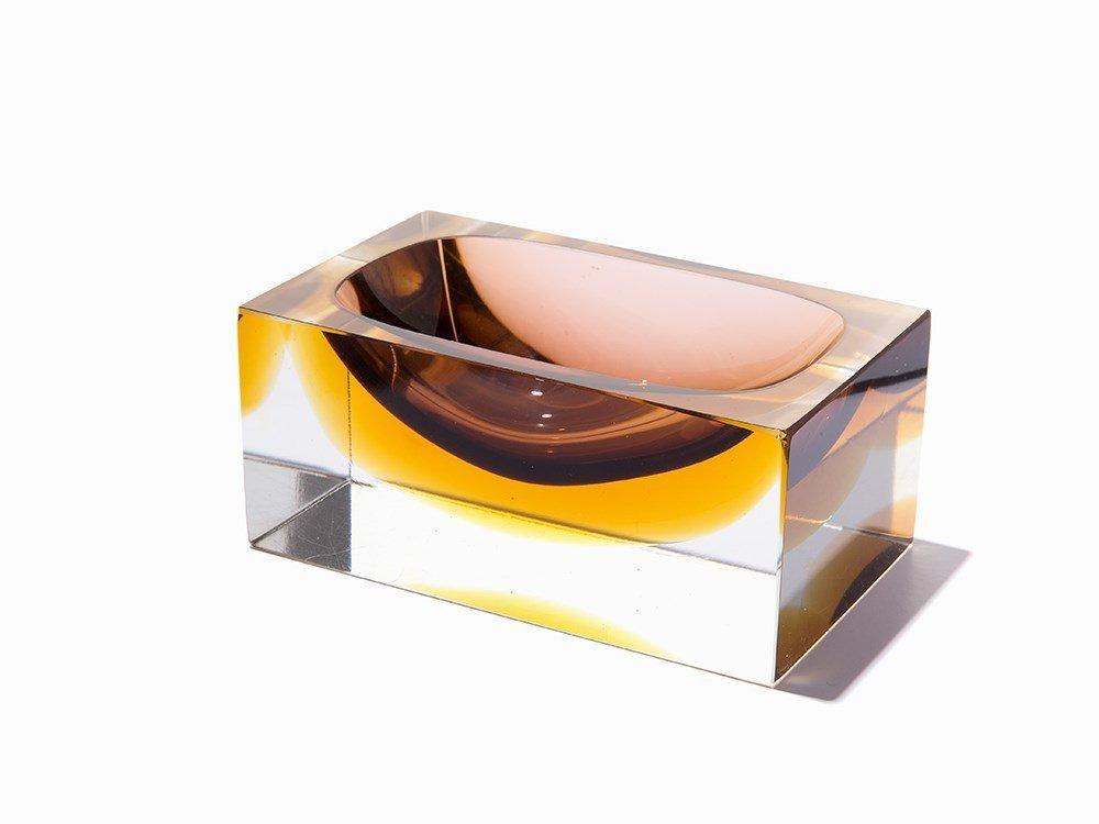 Murano Style Glass Ashtray, Italy, c. 1970