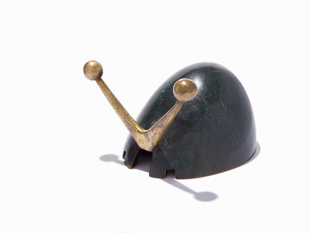 Pal-Bell Co., Bronze Verdigris Ashtray, Israel, c. 1943