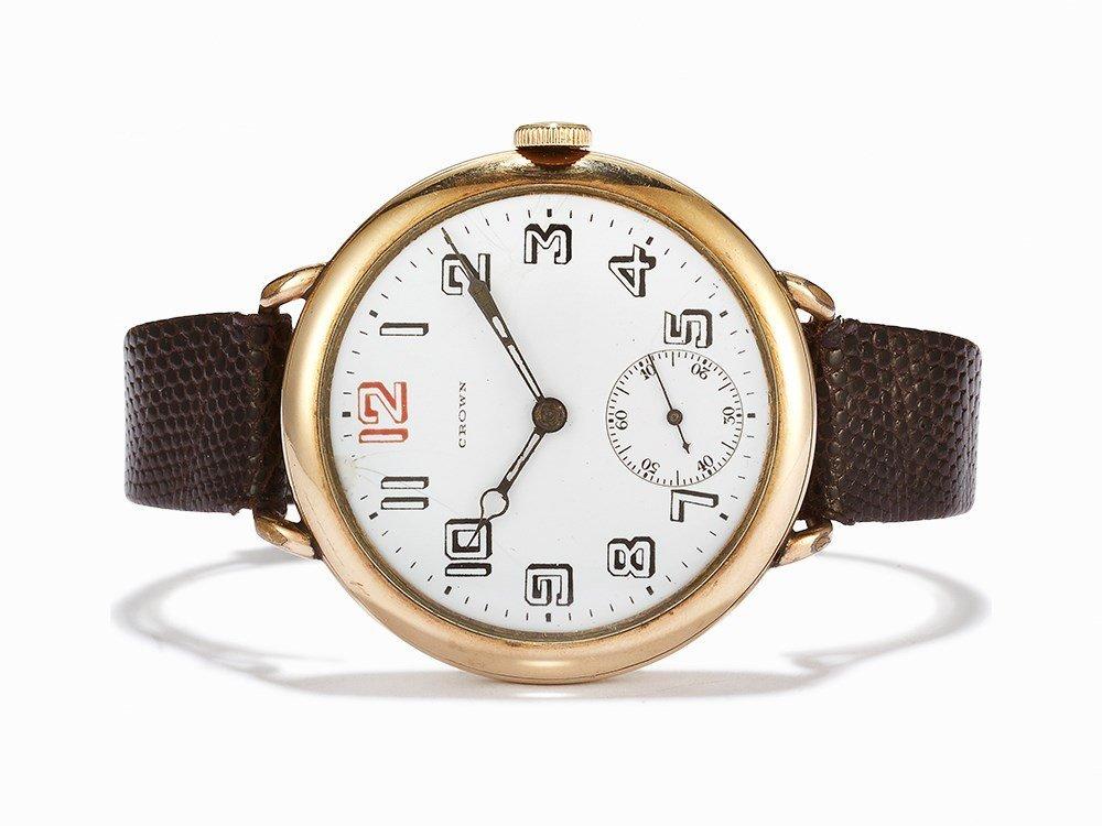 Crown Vintage WWI Pilot's Wristwatch, USA, c.1938