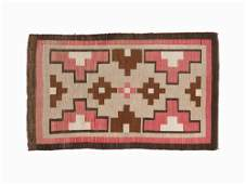 Vintage Navajo Crystal Design Rug USA First Half