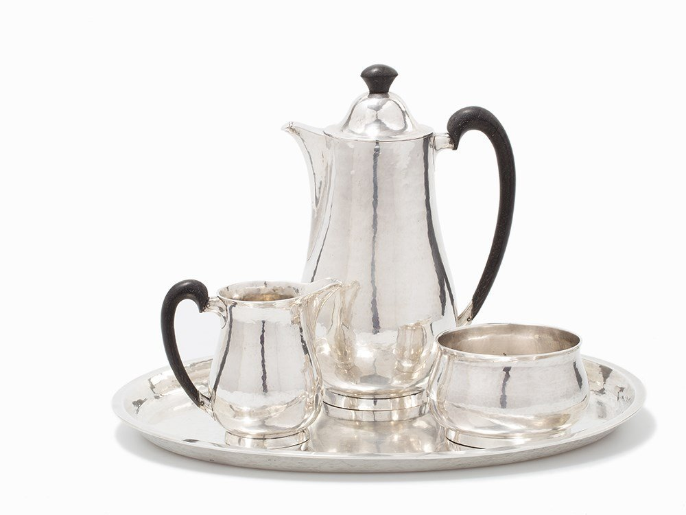 Emmy Roth, A Four-Piece Silver Coffee Service, Germany,
