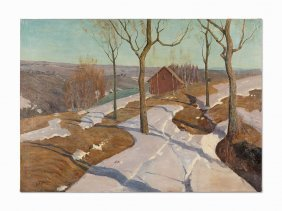 Vilhelms Purvitis, Early Spring Landscape (last Snow),