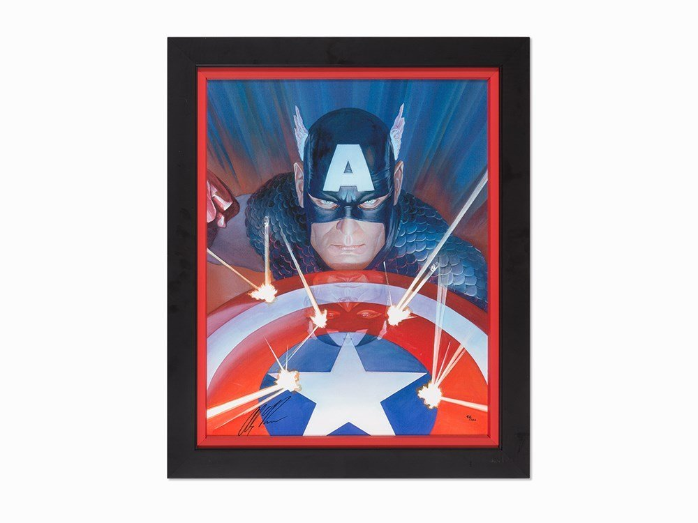 Alex Ross, Visions of Captain America, Giclée on