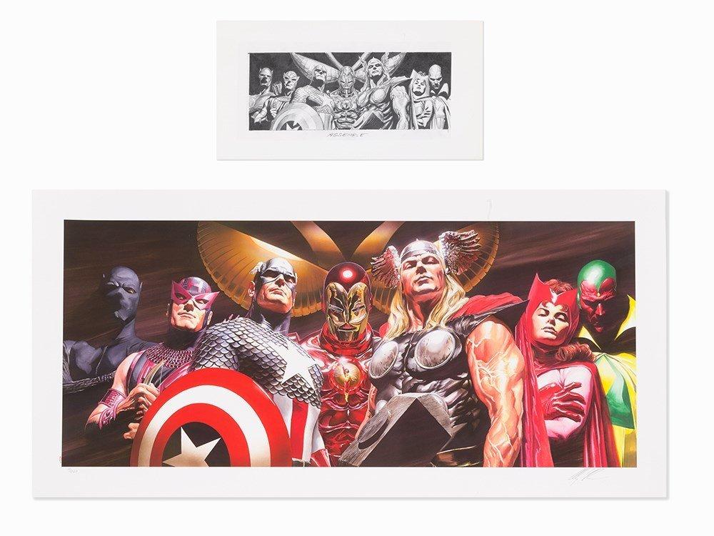Alex Ross, Marvel Assemble, Archival Pigment Ink on