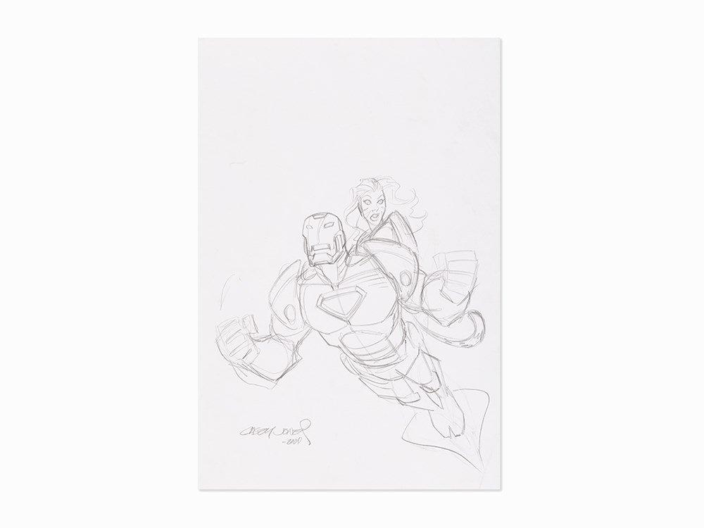 Casey Jones, Study for Marvel Adventures #38, Concept