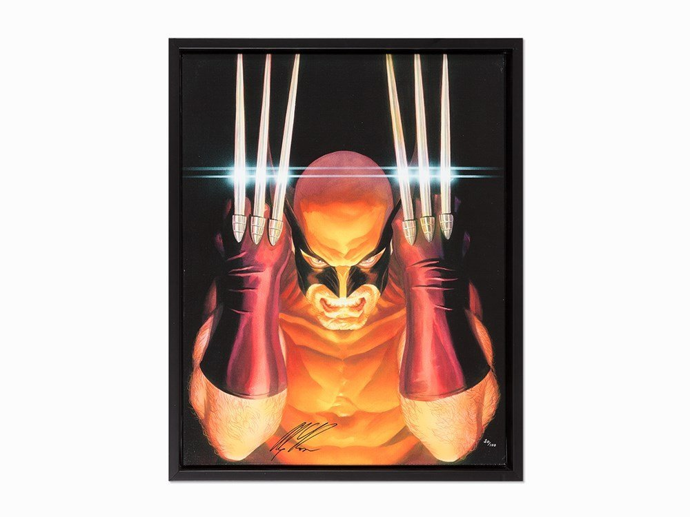 Alex Ross, Visions of Wolverine, Giclée on Canvas, 2013
