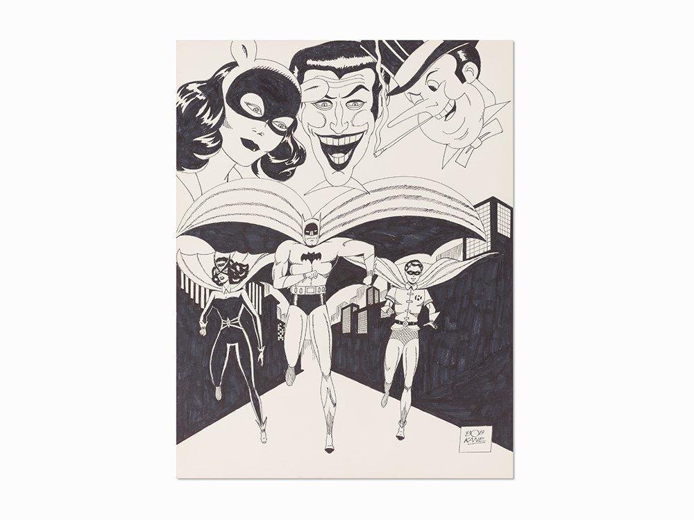 Bob Kane, Catwoman, Joker, Penguin, Batgirl, Batman and