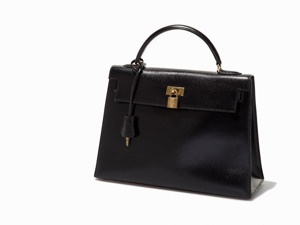 Hermès, Vintage Black Kelly Sellier Bag 32, c.1986