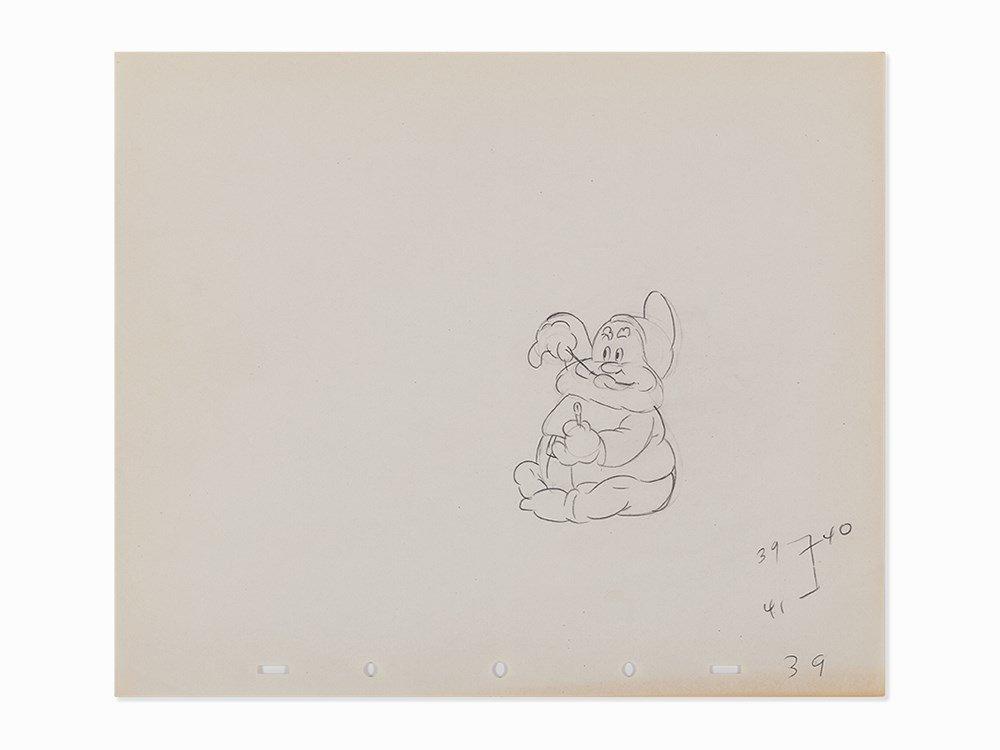 Walt Disney Studios, Happy, Work on Paper, 1937