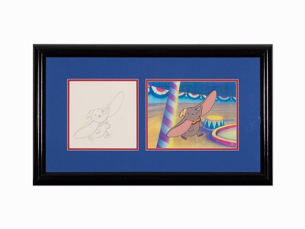 Walt Disney Studios, 'Dumbo', Production Cel and