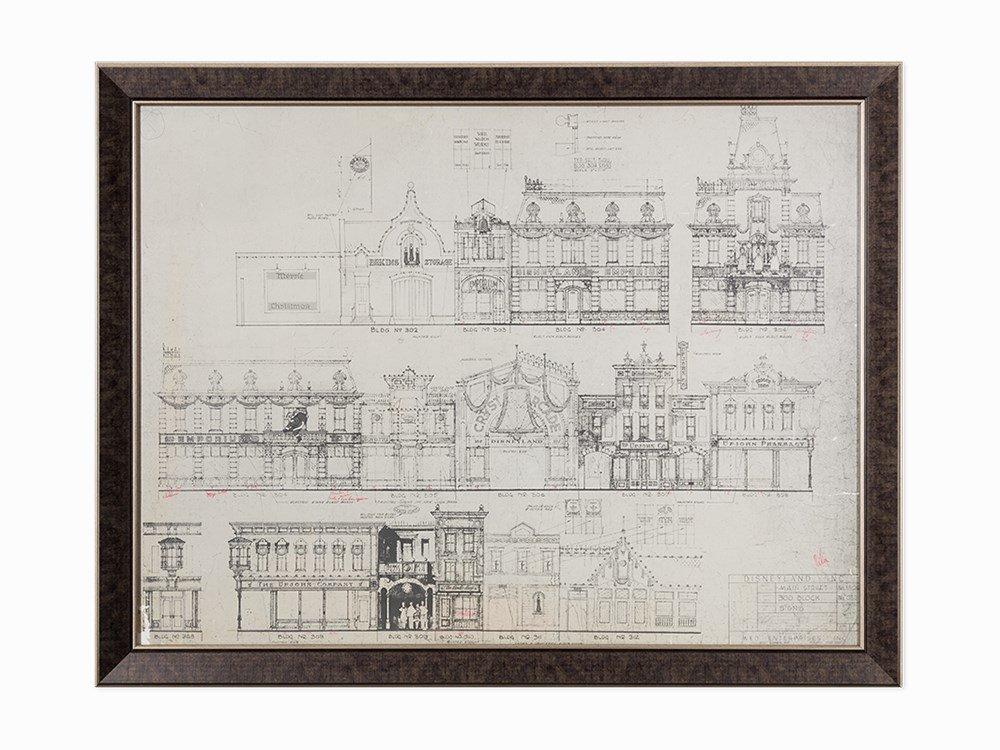 Walt Disney Co., Disneyland Blueprint of Main Street,