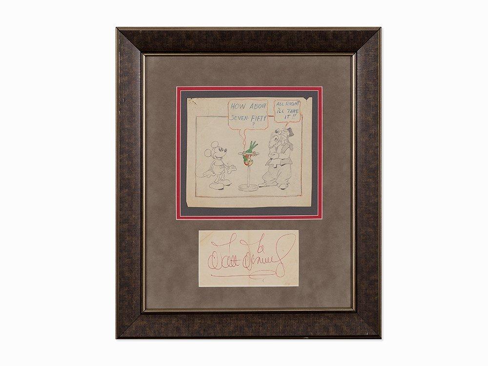 Walt Disney Studios, 'Mickey's Parrot' Storyboard