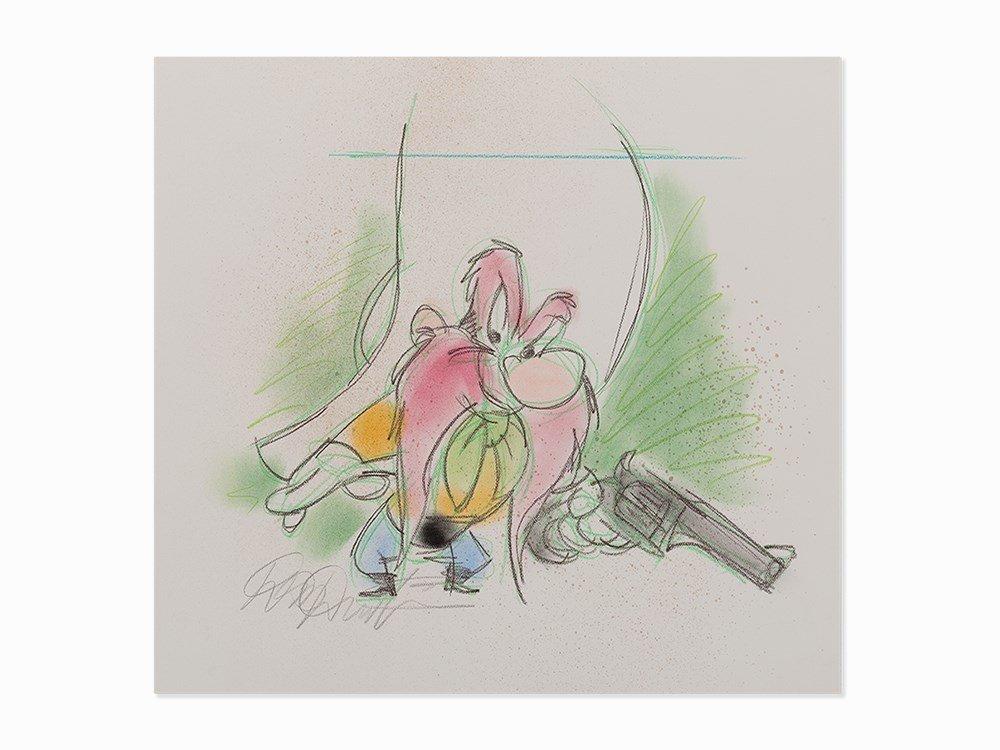 Dick Duerrstein, Yosemite Sam, Work on Paper, 2002