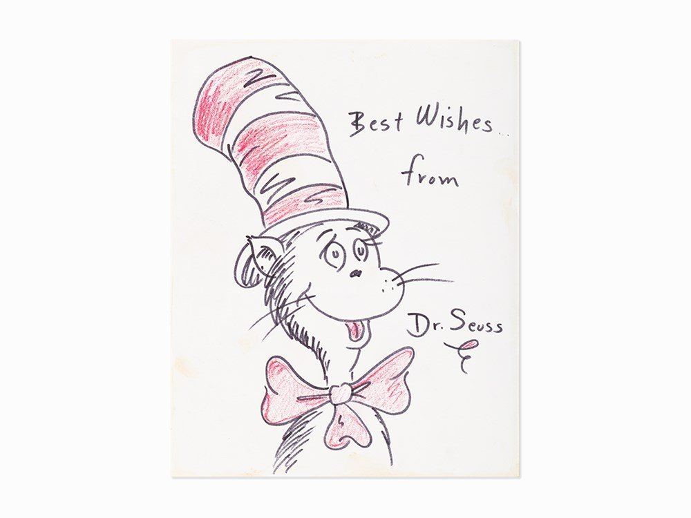 Theodore Seuss Geisel, Cat in the Hat, Work on Paper,