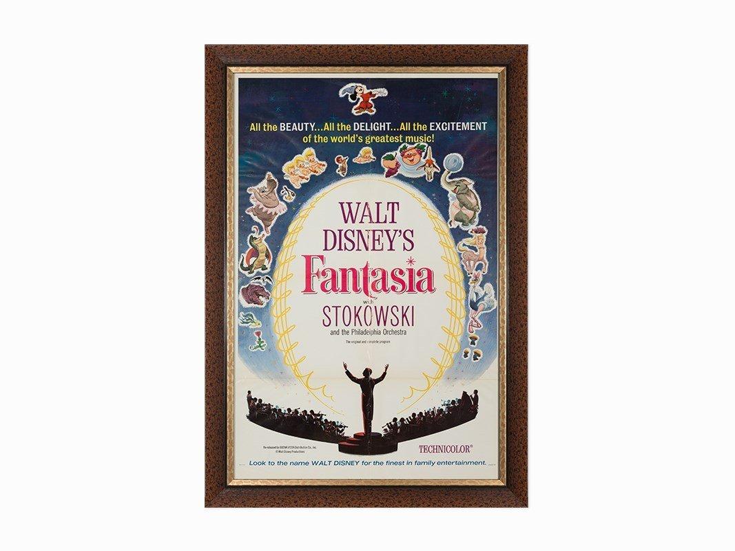 Walt Disney Studios, 'Fantasia', Movie Poster, 1963
