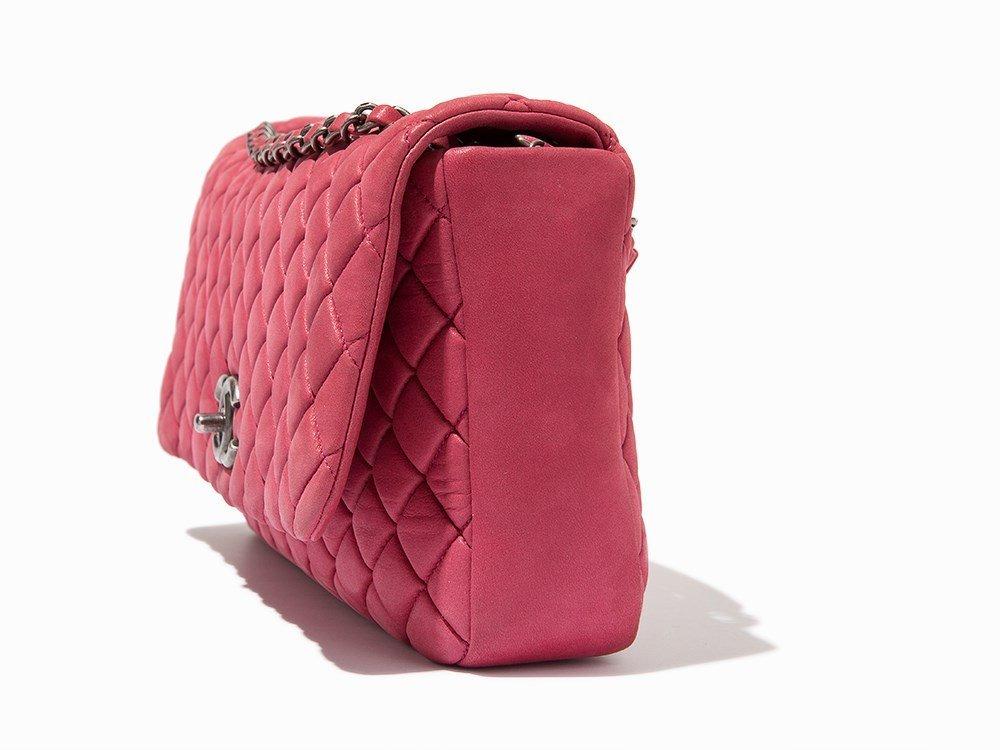 Chanel, Pink Iridescent Calfskin New Bubble Flap Bag, - 3