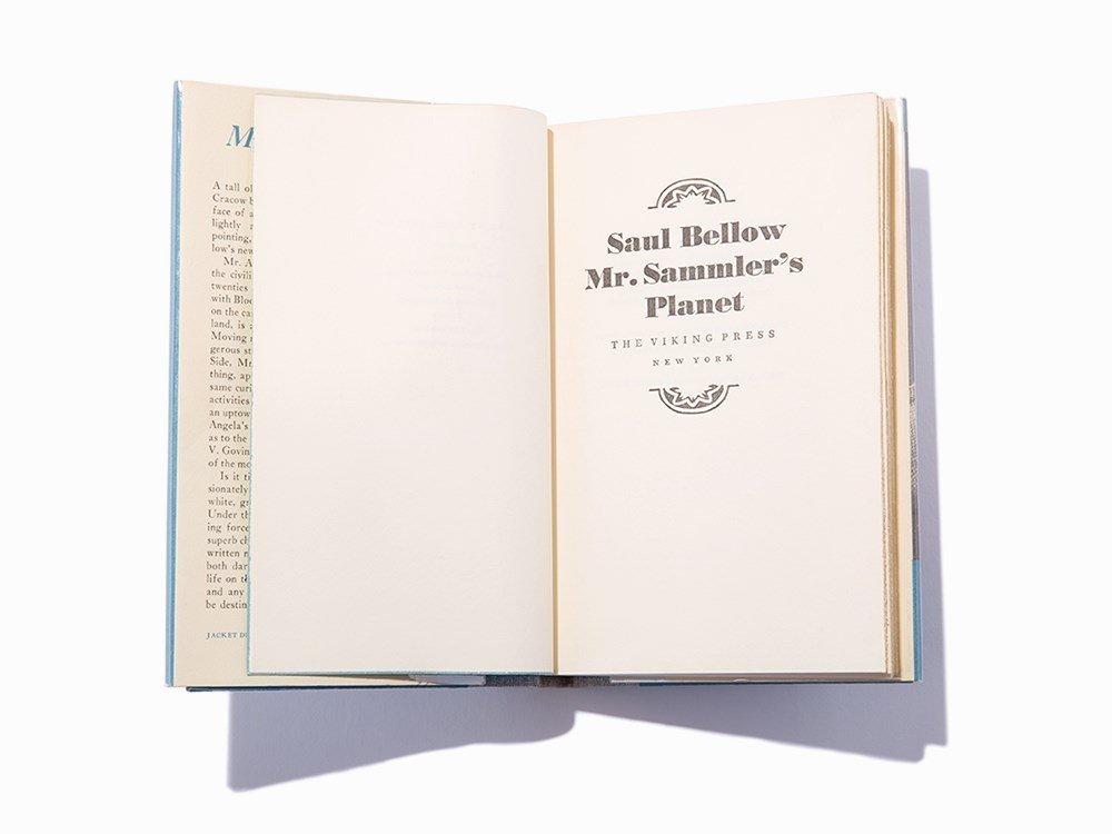 """Saul Bellow, """"Mr. Sammler's Planet,"""" Signed, 1st Ed"""