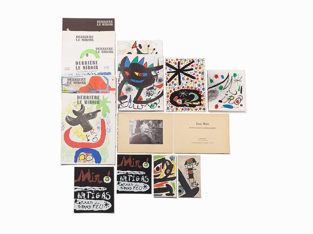 Miro, Exhibition Catalogues & Derriere Le Miroir Eds,