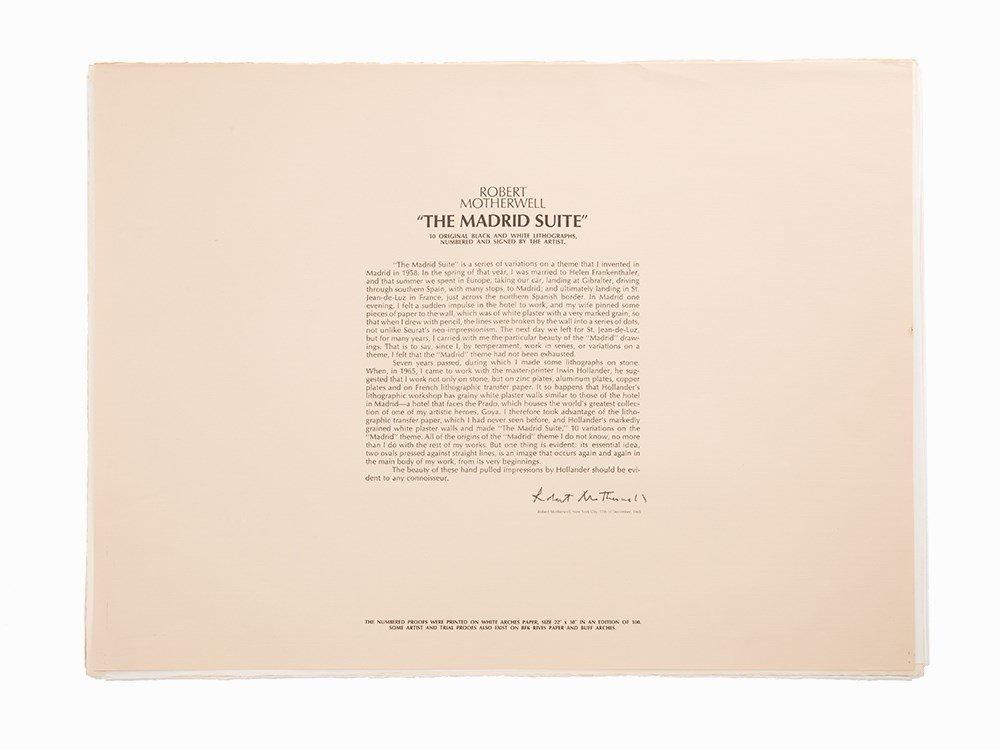 "Robert Motherwell, ""The Madrid Suite"" (Set of 10), 1966"