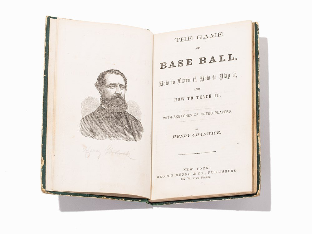 """Henry Chadwick, """"The Game of Base Ball"""", NY, 1868,"""