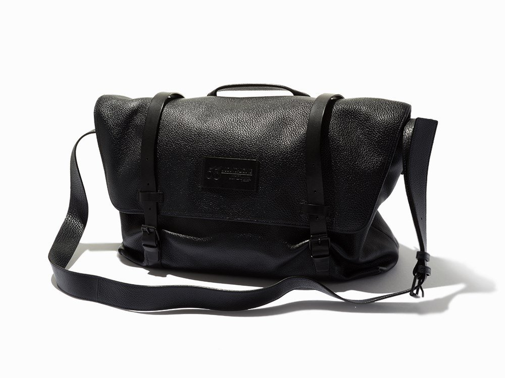 S.T. Dupont, Black Buffalo Leather Messenger Bag