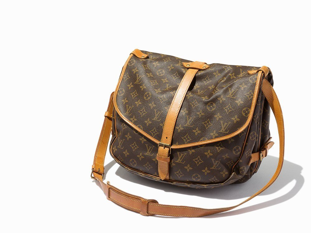Louis Vuitton, Brown Monogram Saumur Messenger Bag,