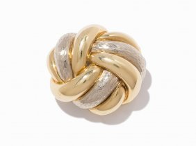 Tiffany & Co., 18k Yellow Gold Twist Brooch