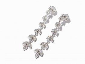 Tiffany & Co. Platinum And Diamond Graduated Drop