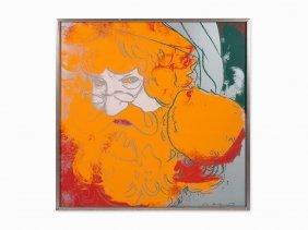 Andy Warhol, 'santa Claus' From 'myths', Screenprint,